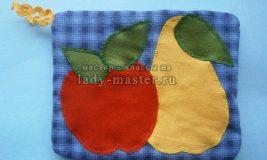 Прихватка с фруктами своими руками