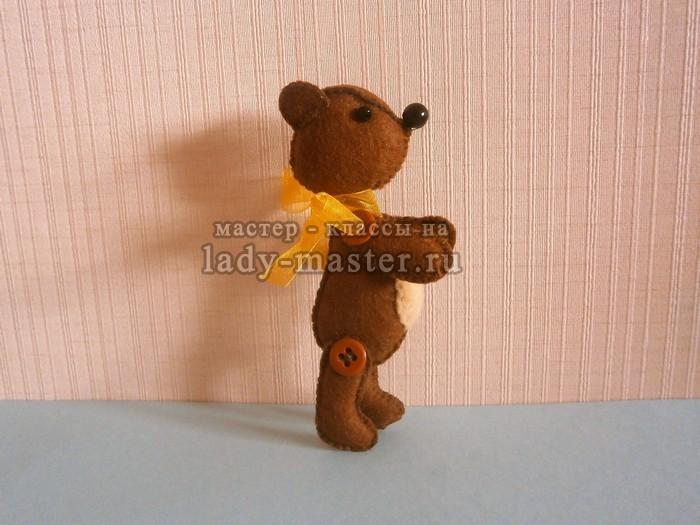 медведь из фетра, фото