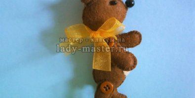 Медвежонок из фетра своими руками