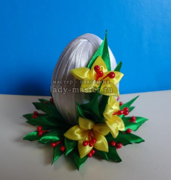 Пасхальное яйцо в стиле канзаши