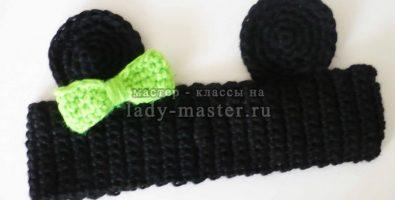 Детская повязка на голову «Подружка Микки»
