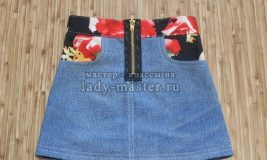 Шьём джинсовую юбку для девочки своими руками