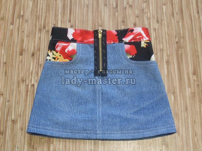 Шьём джинсовую юбку для девочки 1,5 лет своими руками