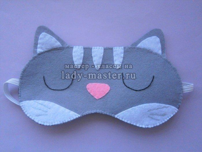 Маска для сна кошка выкройка 114
