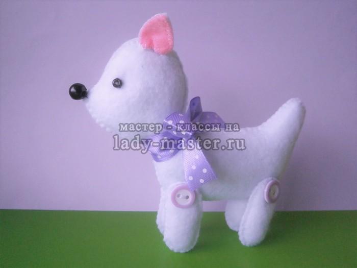 Мягкая игрушка «Белая собачка»