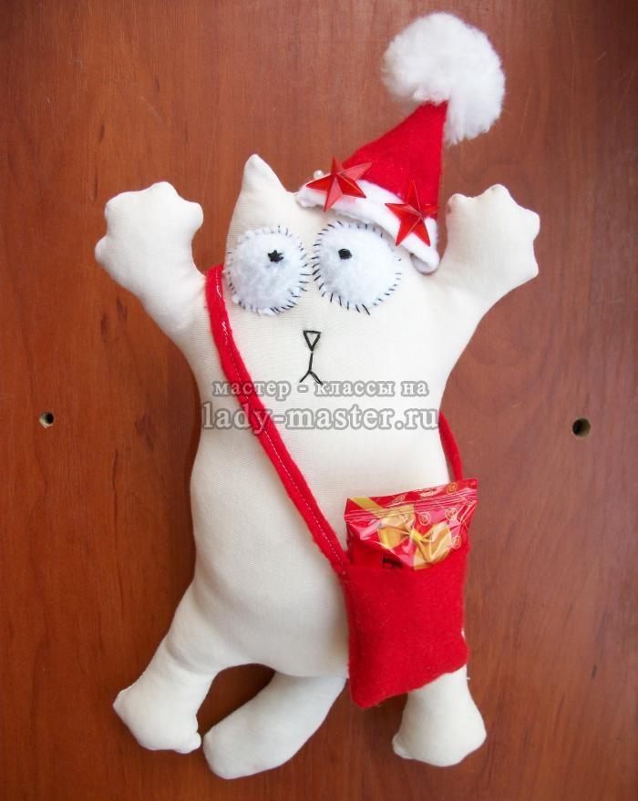 Как сшить новогоднего кота Саймона, пошаговый мастер — класс