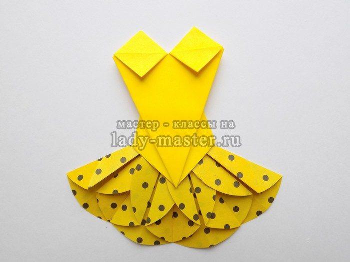 платье из бумаги своими руками, фото