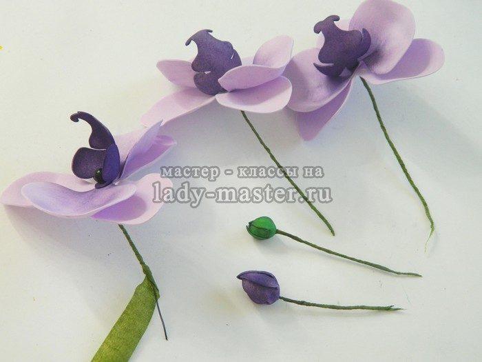 сборка ветки орхидеи