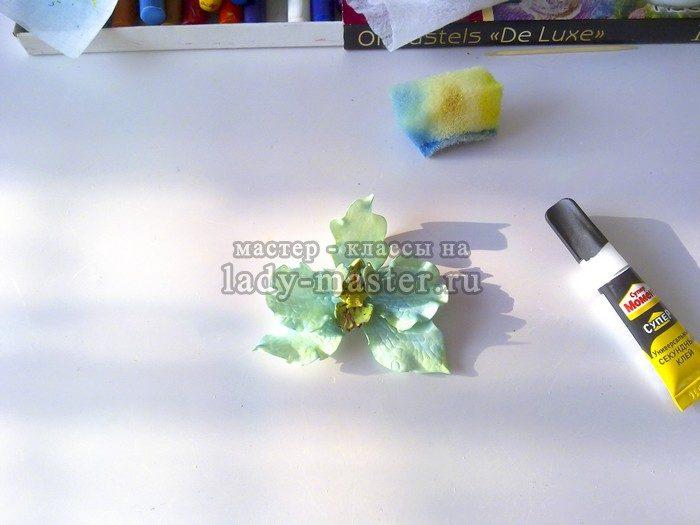 Орхидея из фоамирана своими руками мастер класс фото 28
