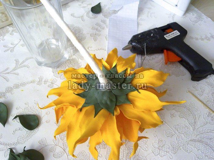 обработка стебля и чашелистика