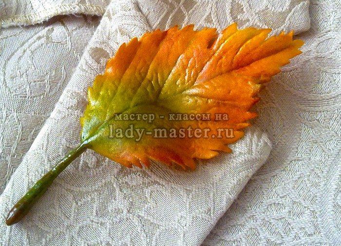 лист вяза из фоамирана, фото