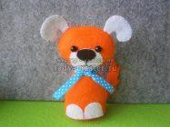 Милая игрушка «Рыжая собачка» из фетра к Новому году