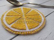 Шьем подставки под чашки «Дольки лимона» из фетра