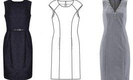 Выкройка и пошив платья футляр