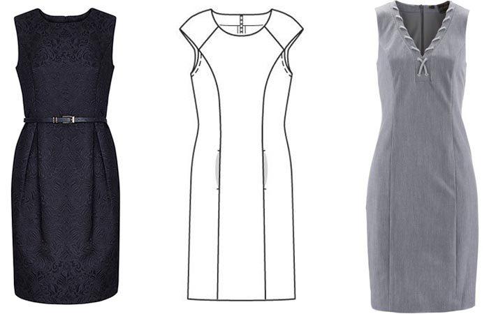 4e64471a1b9 Как шить и кроить платье футляр с рукавом и без - мастер - класс