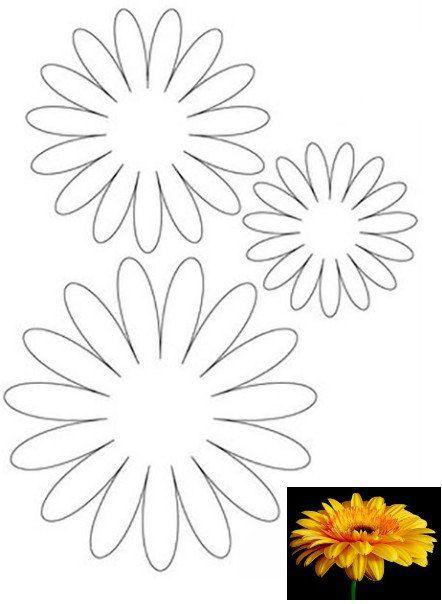 Фото шаблоны для цветов из фоамирана 72