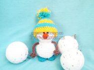 Снеговик крючком — описание изготовления новогодней игрушки