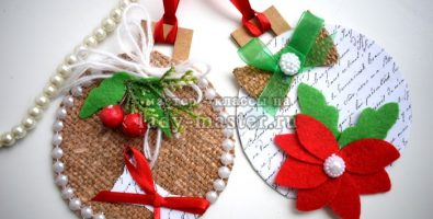 Новогодние подвески из бумаги «Шары»