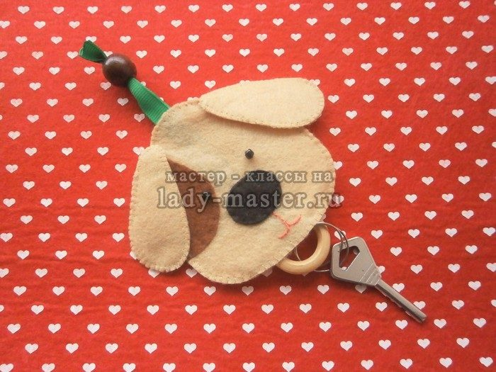 ключница собачка своими руками, фото