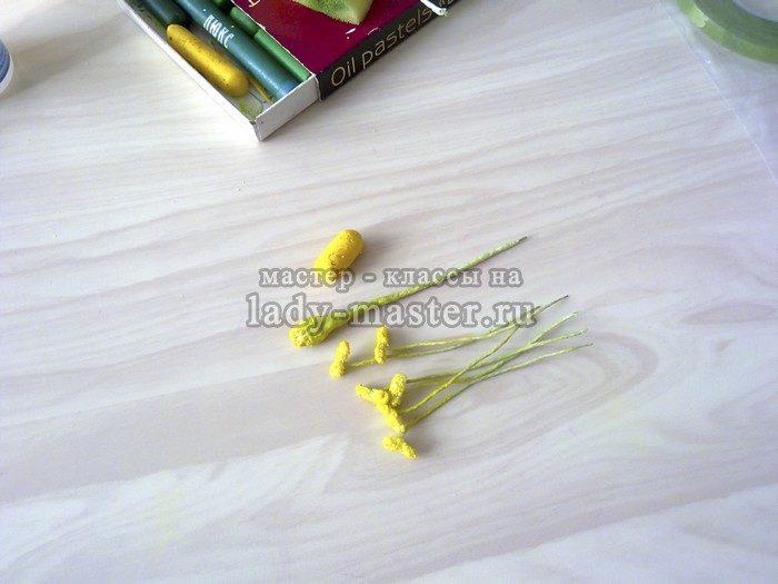 тычинки из фоамирана фото
