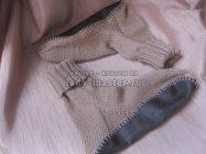 Как связать носки с подошвой спицами