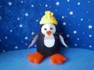 Игрушка из фетра «Пингвин в шапке»