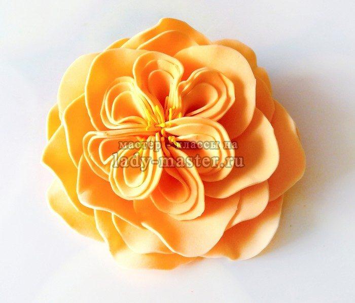 пионовидная роза из фоамирана фото