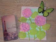 Панно «Цветущая гортензия» из бумаги
