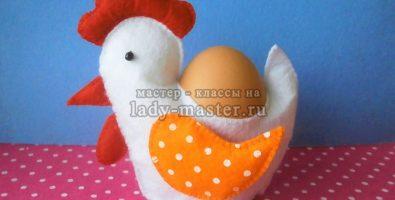 Декоративная пасхальная курочка из ткани