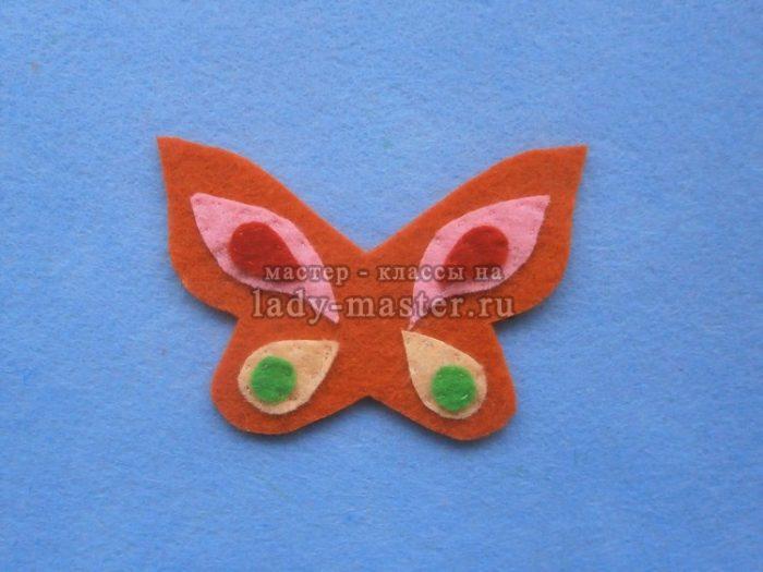 Бабочки из фетра с выкройкой фото 414