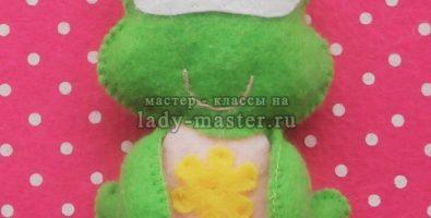 Лягушка из фетра — мастер-класс с пошаговыми фото