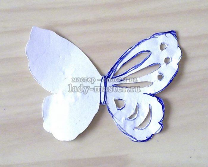 выкройка бабочки