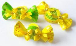 Заколки конфетки-леденцы из фоамирана
