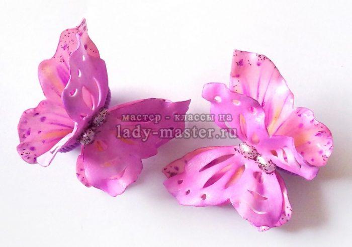 Бабочки из фетра с выкройкой фото 807