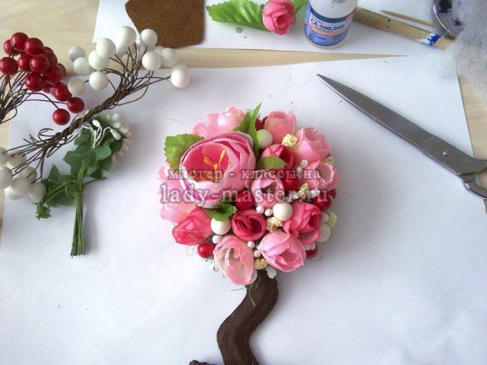 окончательная сборка тюльпана