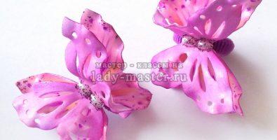 Бабочки из фоамирана на резинке для волос