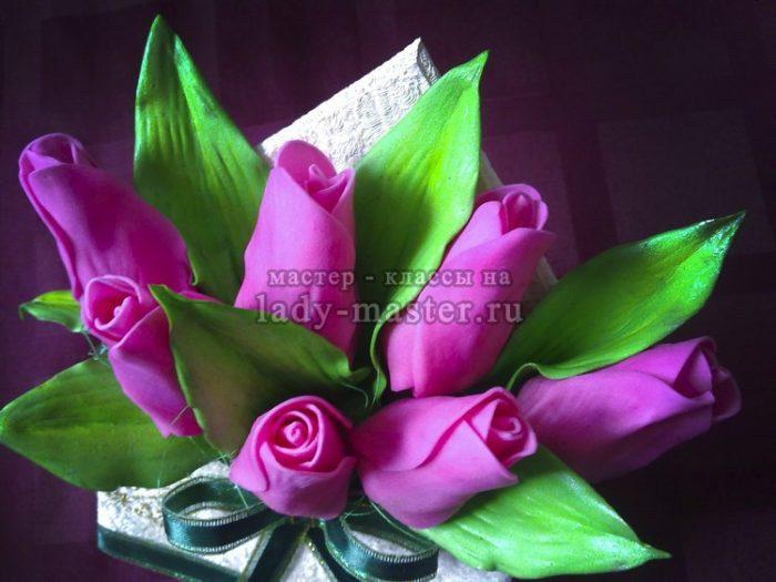 тюльпаны из фоамирана фото