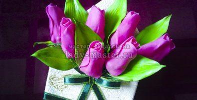 Тюльпаны из фоамирана в конверте своими руками