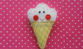 Шьем мороженое из фетра
