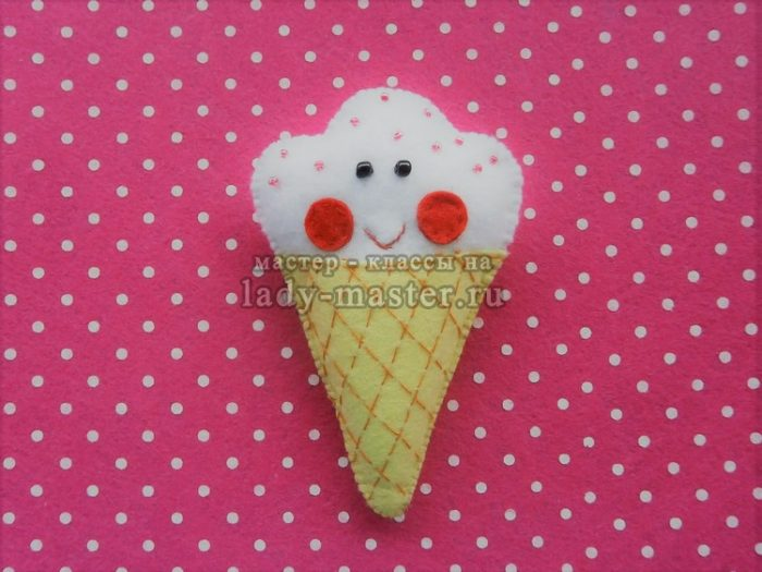 мороженое из фетра