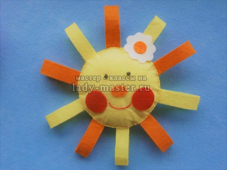 Солнышко из фетра — пошаговый мастер — класс