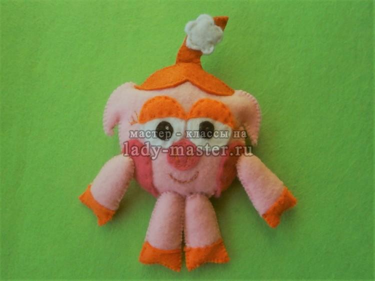 Игрушка из фетра «Свинка Нюша»