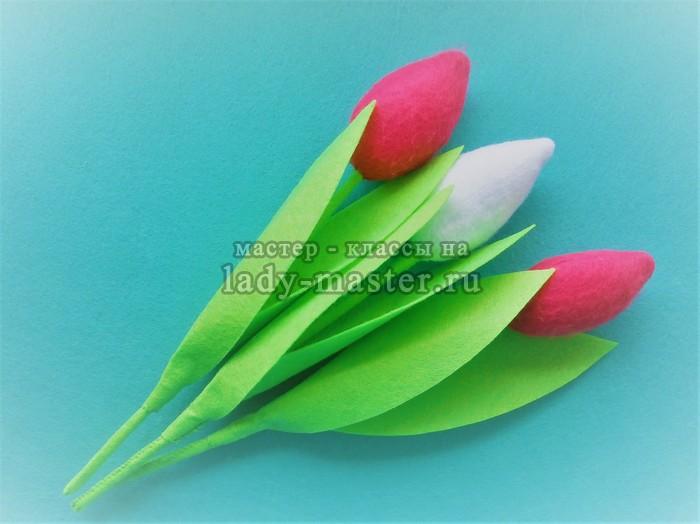 тюльпаны из фетра