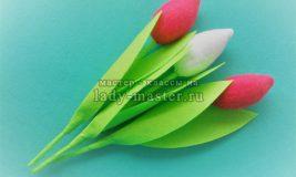 Тюльпаны из фетра — МК с фото