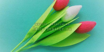 Как сделать тюльпаны из фетра — МК с фото