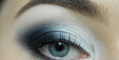 Как создать эффектный серый макияж глаз при наличии только белых и черных теней