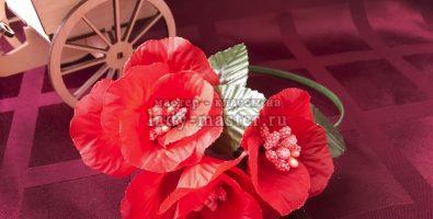 Модный ободок с фантазийными цветами