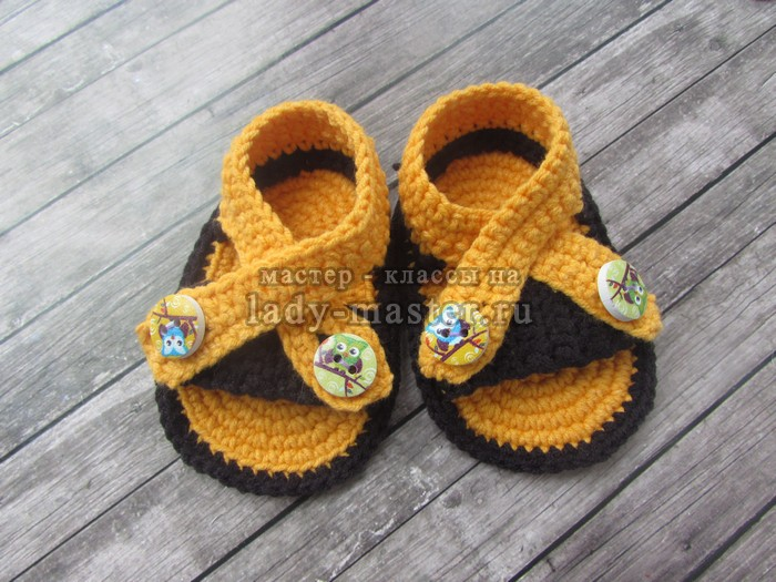 летние сандалики крючком