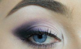 Модный макияж глаз в фиолетовых тонах. Пошаговый урок