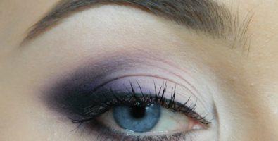 Как сделать макияж глаз в фиолетовых тонах? Пошаговый урок